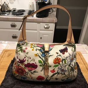 Gucci -Jakie O Handbag Multi - Floral Canvas